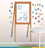 Wallies Dry Erase Easel wall sticker set